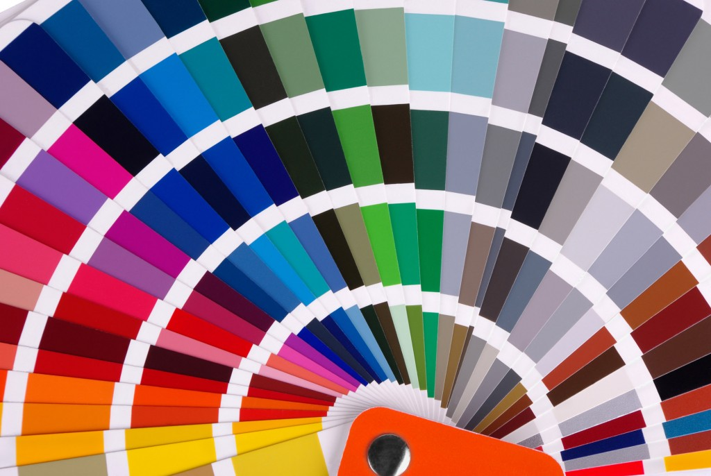 Color chart close-up